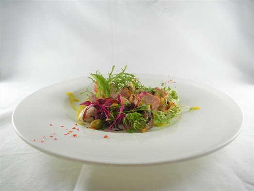 白身魚のオーブン焼き カボチャのピューレアクセント付コース宿泊プラン