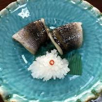 メニュー例/たかべの西京焼き。神津島ならではのお魚を甘い白味噌漬けて。