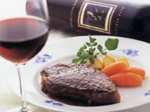 メインは、黒毛和牛ステーキをご用意