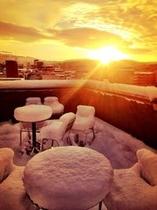冬の屋上・Rooftop garden in winter