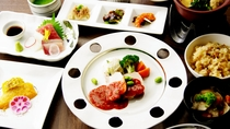 ご夕食は和洋会席(一部ブッフェ)(イメージ)