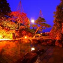 【星月夜の日本海(左の湯)】夜