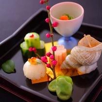 【巡】季節の素材で絵のように飾った前菜(春)
