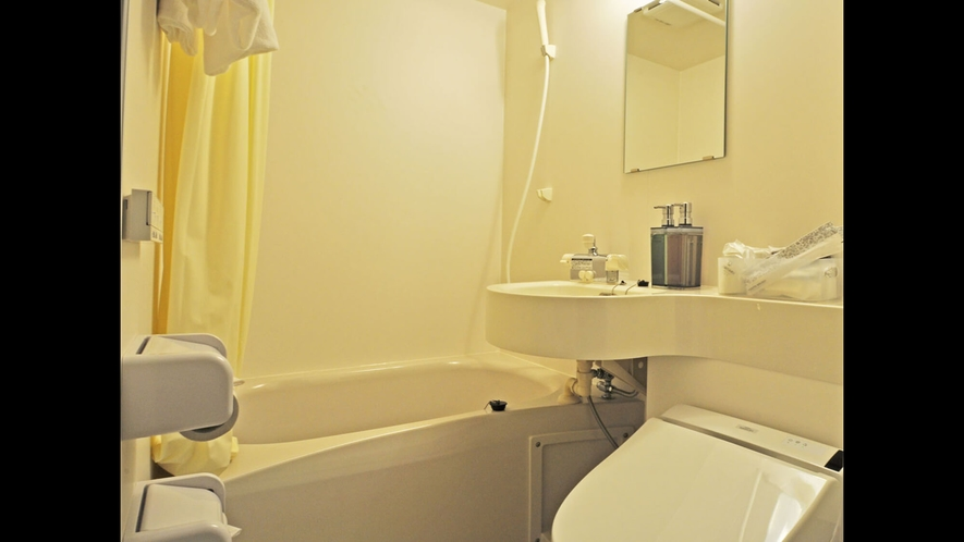 【ツインルーム<喫煙>14平米】バス・トイレ一例