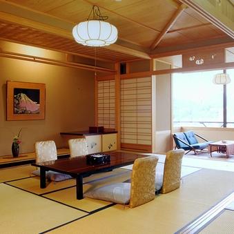 【特別室】ツインと和室15帖の和洋室☆富士山眺望〈禁煙〉