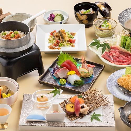 [季節の会席料理]涼しげな夏の味覚たっぷりの旬会席料理一例