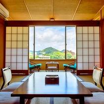 [客室からの眺め]お天気の良い日には客室からは、富士山がご覧頂けます。