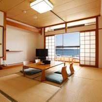 <客室一例>和室のお部屋。全室オーシャンフロント。