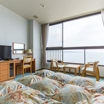 *【部屋/洋室】全室オーシャンフロント。爽やかな海風に包まれて。
