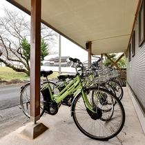 *レンタサイクルあります 近隣観光の足としてご利用ください