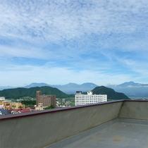 屋上から360度の眺望