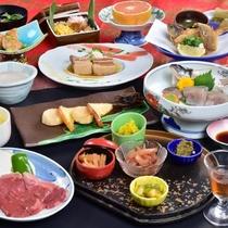 信州牛ステーキ付★ちょっぴり欲張りご夕食「松コース」の一例