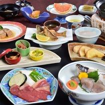 当館スタンダード★竹コースのお料理一例です