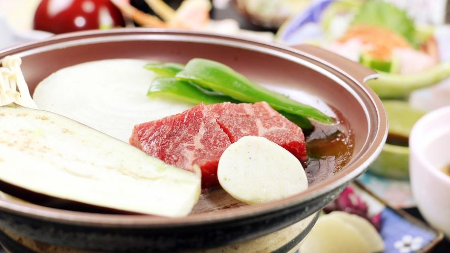 【夕食】牛陶板焼き