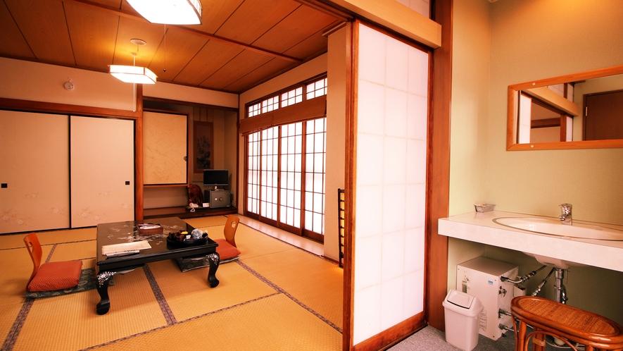 【初雁】ゆったり広々の和室10畳(トイレ・洗面・板縁) 4~5名様