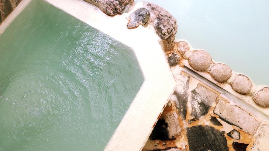 その昔、一匹の白い鹿が傷を癒したことからその名がついた温泉「鹿の湯」