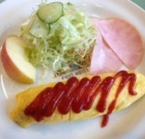 朝食(洋食のおかず一例)
