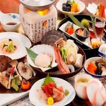 【星の膳】三陸 野田村の荒海帆立と生ずわい蟹の海鮮しゃぶしゃぶがメインです!