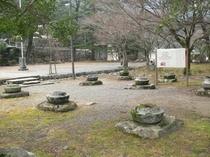大寧寺山門跡