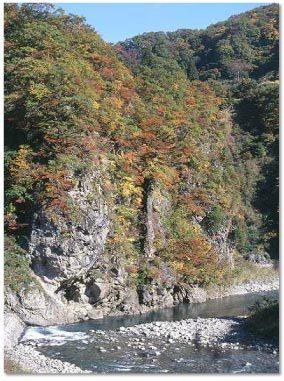 清津峡 紅葉