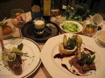 〜越後まるごと!美味探求コース一例〜地元の旬素材を活かした料理を地酒と景色と一緒に満喫