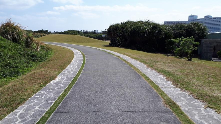 残波岬公園内をジョギングしよう