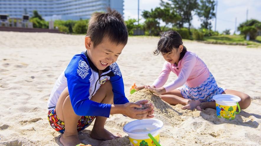ビーチで砂遊び(砂遊びセット貸し出し)イメージ