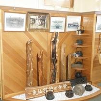 *【施設】館内には当館の歴史を紹介するコーナーがございます。
