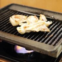 *【夕食一例】焼肉はお好みの焼き加減でどうぞ。