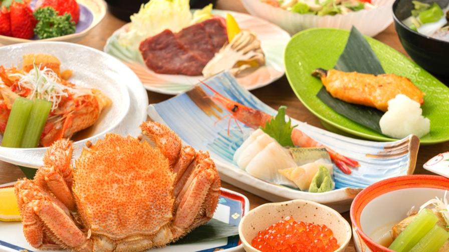 【知床極膳−松】当館最高峰。毛ガニ・高級魚『メンメ』を含む<食材・調理法>のこだわりを余すことなく