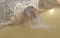 温泉噴出し口