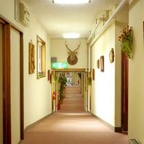 【館内イメージ】存在感のある鹿の剥製。様々なインテリアが館内に展示されています♪