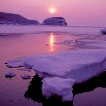 【流氷】時間と共に色合いも変わり、様々な姿を見せてくれる