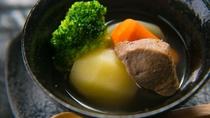 八溝ししまると有機野菜のスープ
