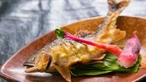 夏にかけて味わえる若鮎は特に香り高いとされています。