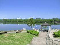 御所湖から望む秋田駒ケ岳