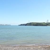 阿波の松島と呼ばれる橘湾が目の前に広がる。