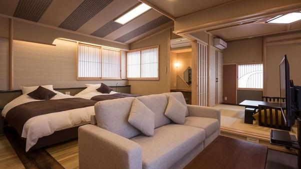 神庭|総檜風呂付和洋室「橘・豊玉」