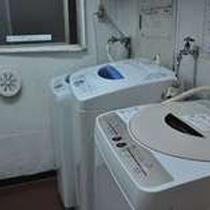 ランドリー。洗濯機+洗剤+乾燥機使用で、400円