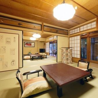 保津川 - ガーデンビュー◆和室12畳+6畳+展望風呂◆