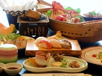 贅沢に1人1個のあわびの踊り焼き付き♪舟盛もあわびもお寿司も♪(あわびプラン)