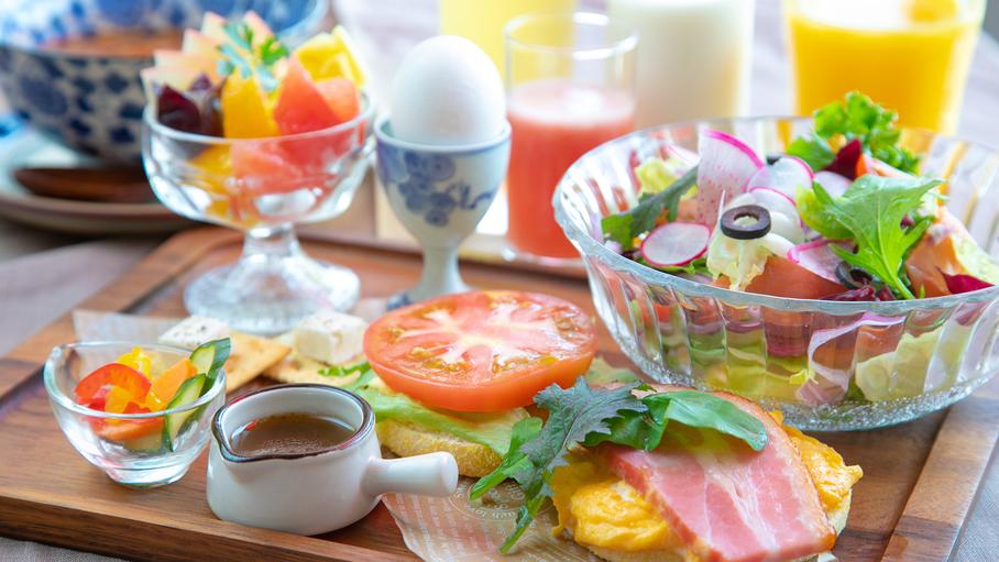 大好評のエールの朝食をお楽しみください♪マフィン朝食が女性に好評です。