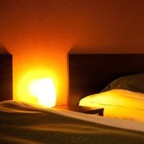 【客室】全室ドリームベッド社製ベッド。快適な眠りをお届けいたします。