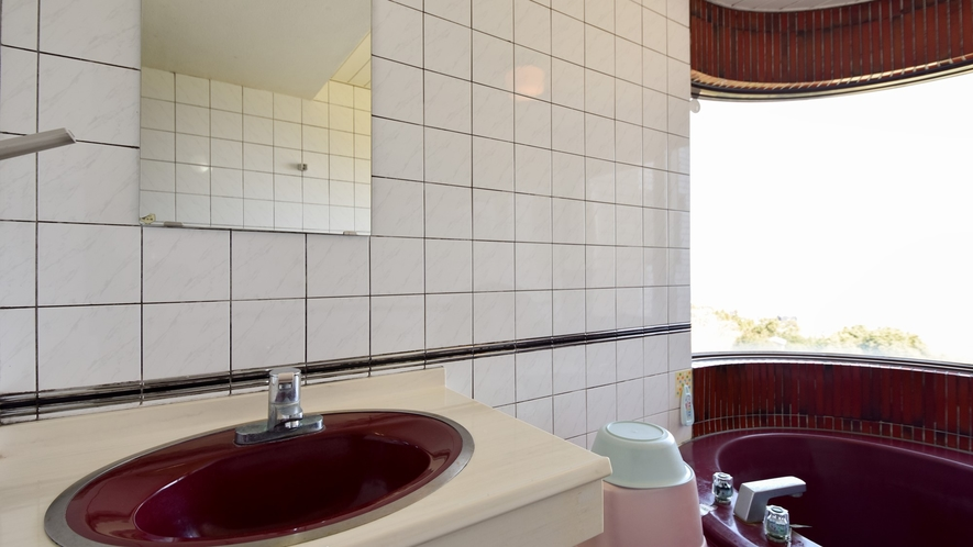 *客室一例/本館客室3LDK 解放感のある洗面台。