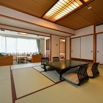 やまびこの間(デラックス和洋室)2世代、3世代でのご旅行にも最適なお部屋です。