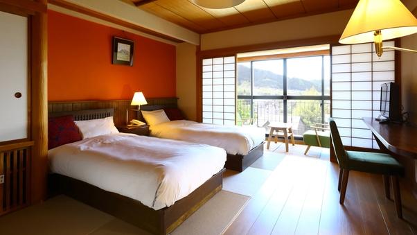 和風ツインベッドルーム+広縁付◆ 快適リニューアル/禁煙