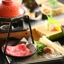「華hanaのお料理」 信州牛のすきしゃぶ