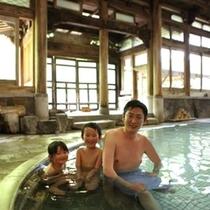 ◇パパと一緒に有名な【桃山風呂】へ