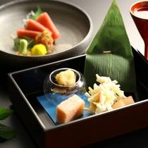 【ご夕食】 前菜、お造りのイメージ
