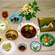 【夕食一例】手作りビーフシチューと田舎料理をご賞味下さい